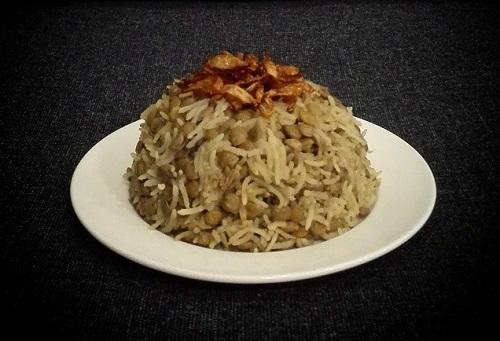 طريقة عمل مجدرة العدس والارز