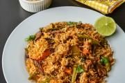 برياني لحم وخضار على الطريقة الهندية