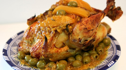 دجاج بالزيتون بالطريقة المغربية