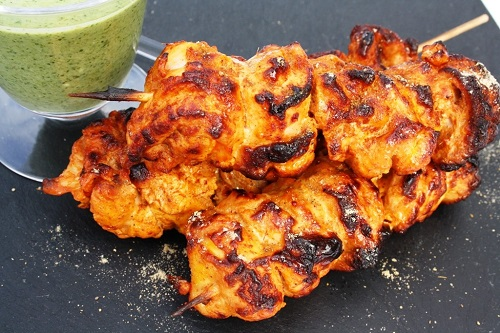 دجاج تكا مشوي على الفحم بالتتبيلة الاصلية
