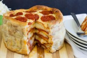 طريقة عمل كيك البيتزا