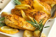 طريقة عمل دجاج بالثوم والليمون بالفرن