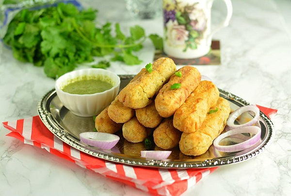 اصابع البطاطس باللحم المفروم