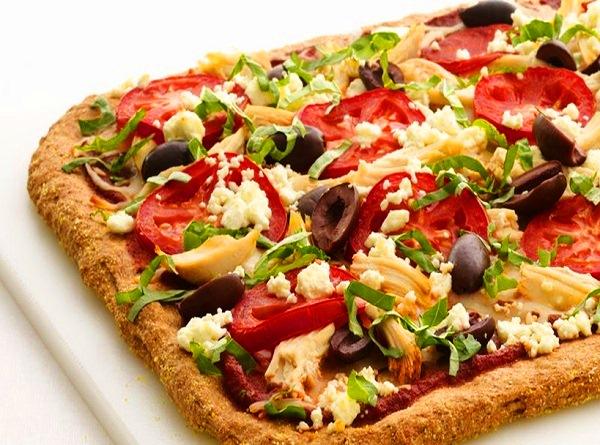 طريقة عمل بيتزا بالدقيق الاسمر دايت