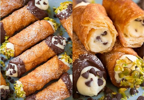 طريقة عمل حلوى الكانولي الايطالي