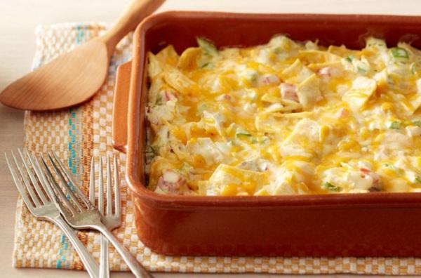 صدور الدجاج بالجبن في الفرن