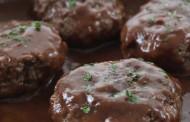 طريقة عمل كرات اللحم بالصوص البني