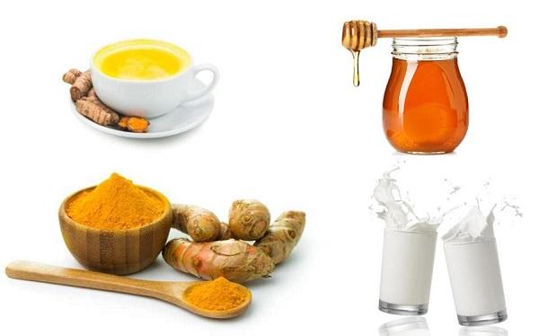 فوائد الحليب والكركم والعسل