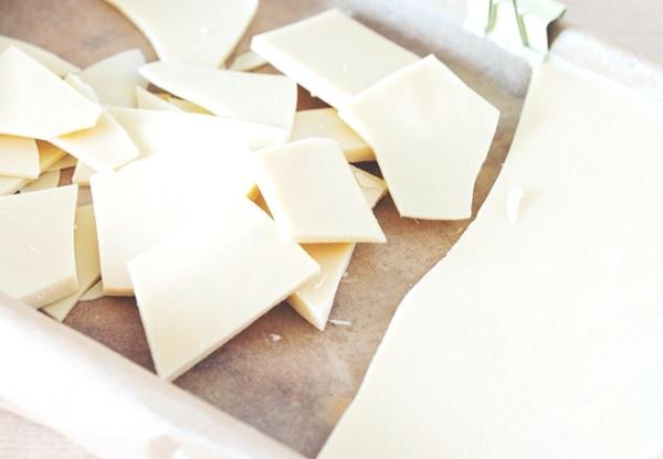 الشوكولاته البيضاء في المنزل