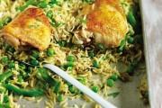 طريقة عمل صينية الرز بالخضار والدجاج