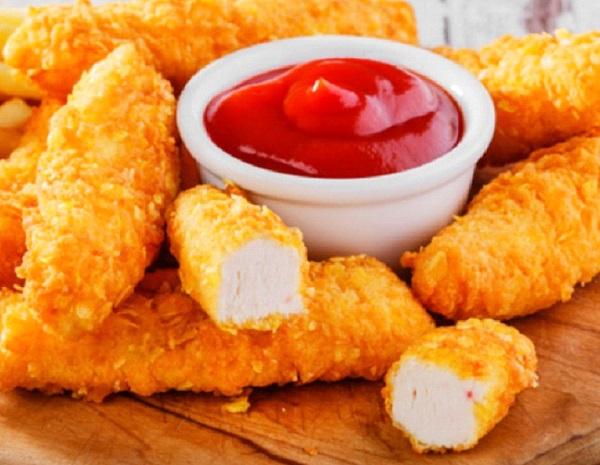 اصابع الدجاج المقلية