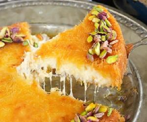 طريقة عمل الكنافة الخشنة بالجبنة - طريقة