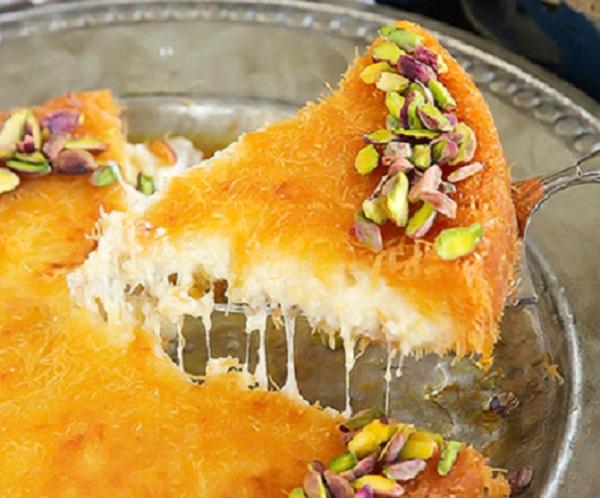 الكنافة الخشنة بالجبنة