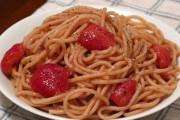 طريقة عمل سباغيتي بالفراولة