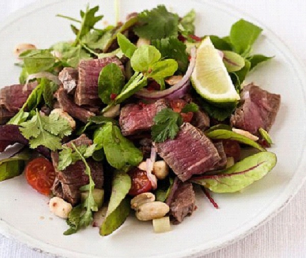 طريقه عمل سلطة اللحم التايلندية