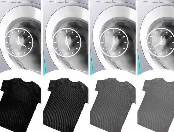 طريقة غسل الملابس السوداء