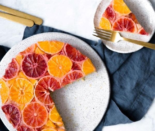 كيكة البرتقال الاسفنجية