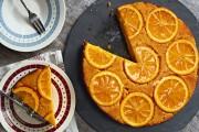 طريقة عمل كيكة البرتقال المقلوبة