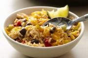 طريقة عمل ارز بالدجاج و الفاصوليا