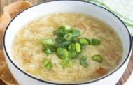 طريقة عمل شوربة البيض الصينية