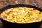 طريقة عمل صينية البطاطس بالكريمة والجبن
