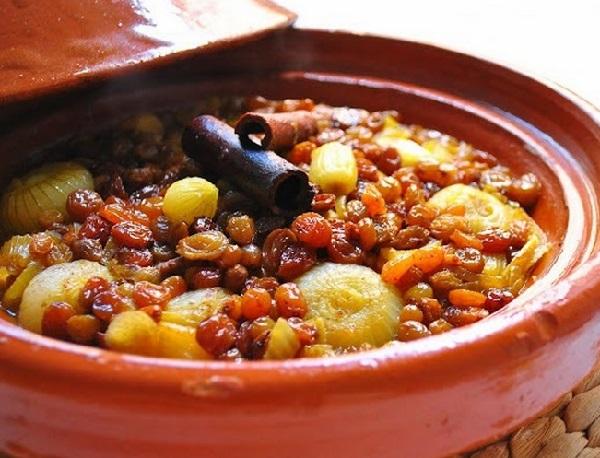 طاجن الخضار المغربي بزيت الزيتون