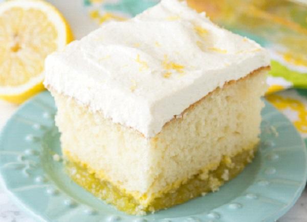 طريقة عمل كيكة الليمون بصوص الليمون
