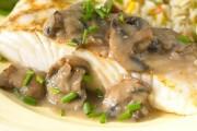طريقة عمل سمك الهلبوت بصلصة الفطر