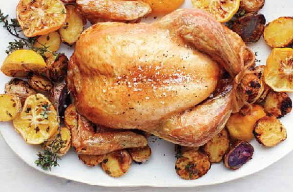 دجاج محمر بالفرن مع البطاطس