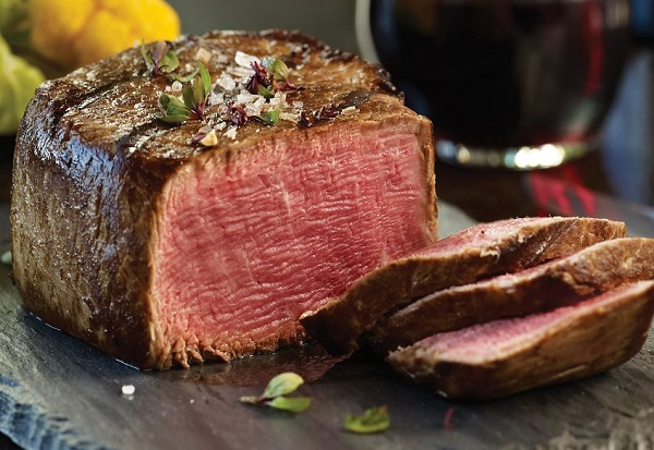 ستيك اللحم المشوي بالفرن