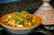 طريقة عمل الطاجين المغربي بالدجاج والخضار