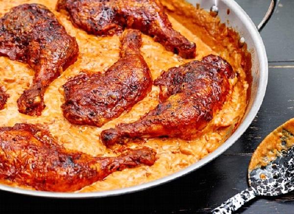 صينية الدجاج بالكريمة و البابريكا