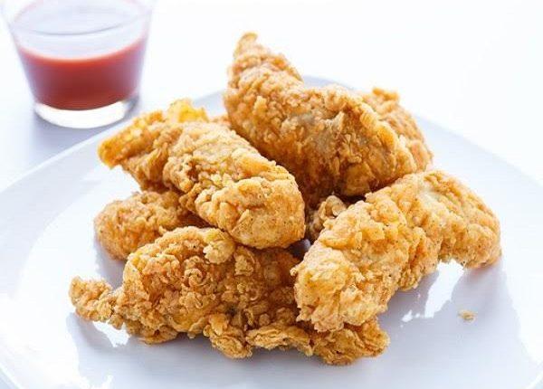 اصابع الدجاج المقلية المقرمشة