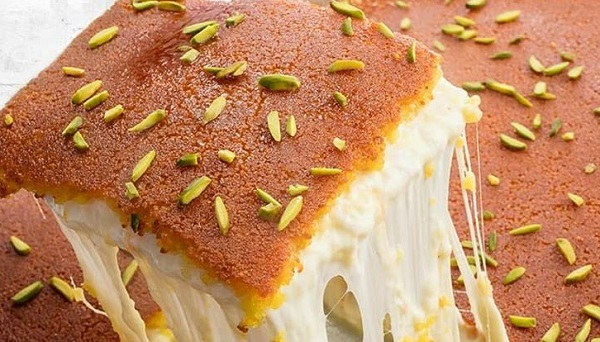 الكنافة النابلسية الناعمة بالجبنة