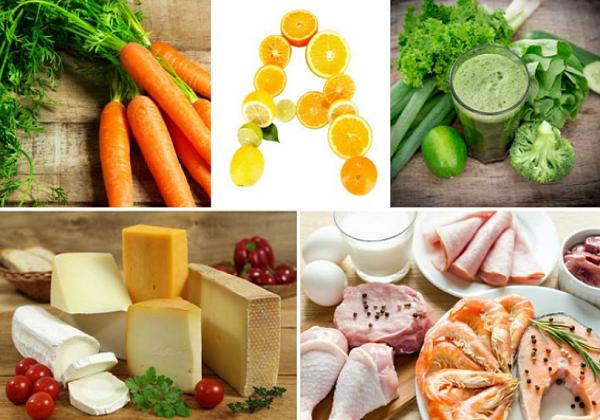الاطعمة التي تحتوي على فيتامين أ