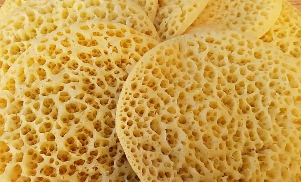 البغرير المغربي بدون سميد