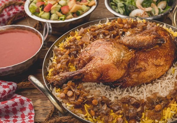 طريقة عمل المجبوس الاماراتي بالدجاج