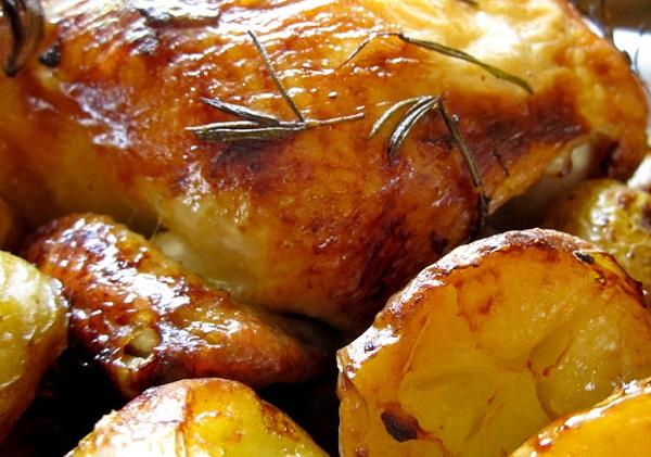 تبسي دجاج بالبطاطس