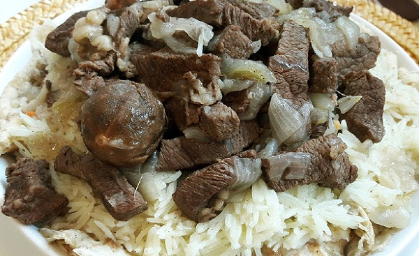 طريقة عمل تشريب اللحم العراقي الابيض