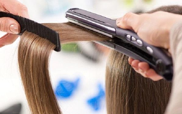 تمليس الشعر في المنزل