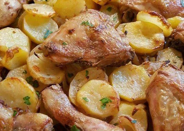 صينية البطاطس بالدجاج السورية