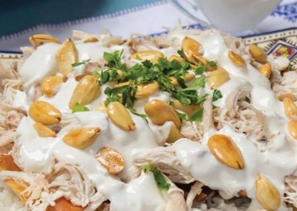 فتة الدجاج اللبنانية