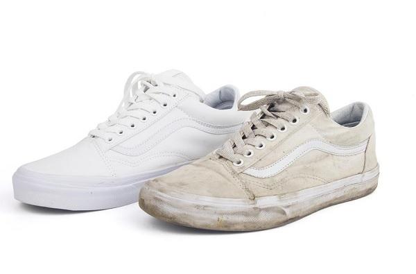 تنظيف الحذاء الابيض القماش