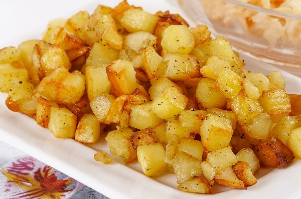 مفركة البطاطا بدون لحمة