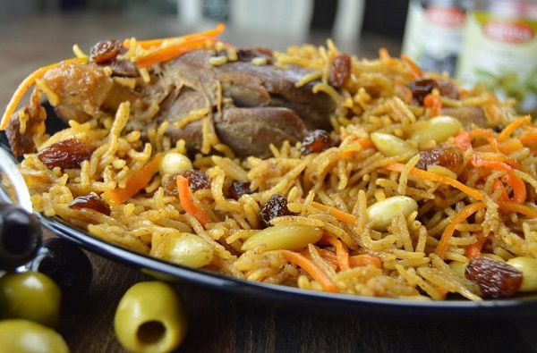 الرز البخاري الاصلي باللحم