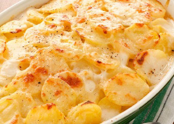 غراتان البطاطا بالجبن