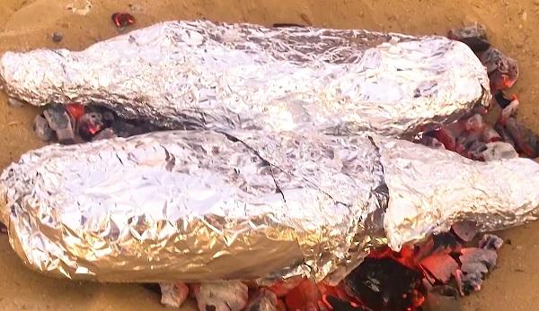 مدفون لحم في البر