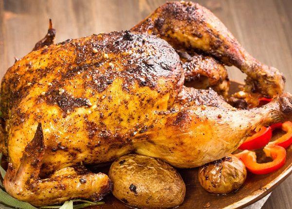 الدجاج المشوي بالفرن بالقصدير