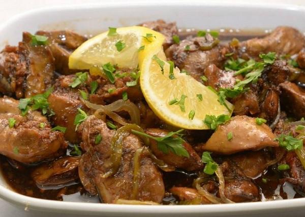 كبدة الدجاج اللبنانية