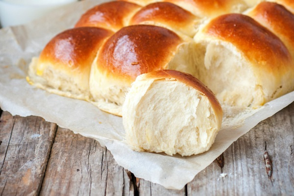 خبز الحليب بدون بيض
